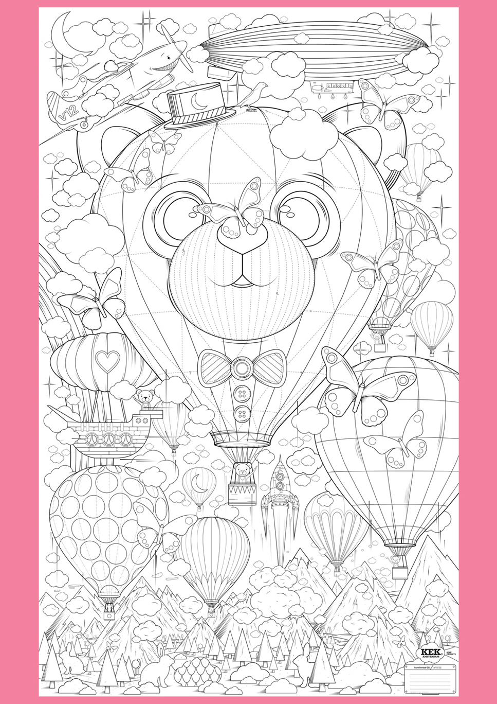 Supersized Colouring Picture