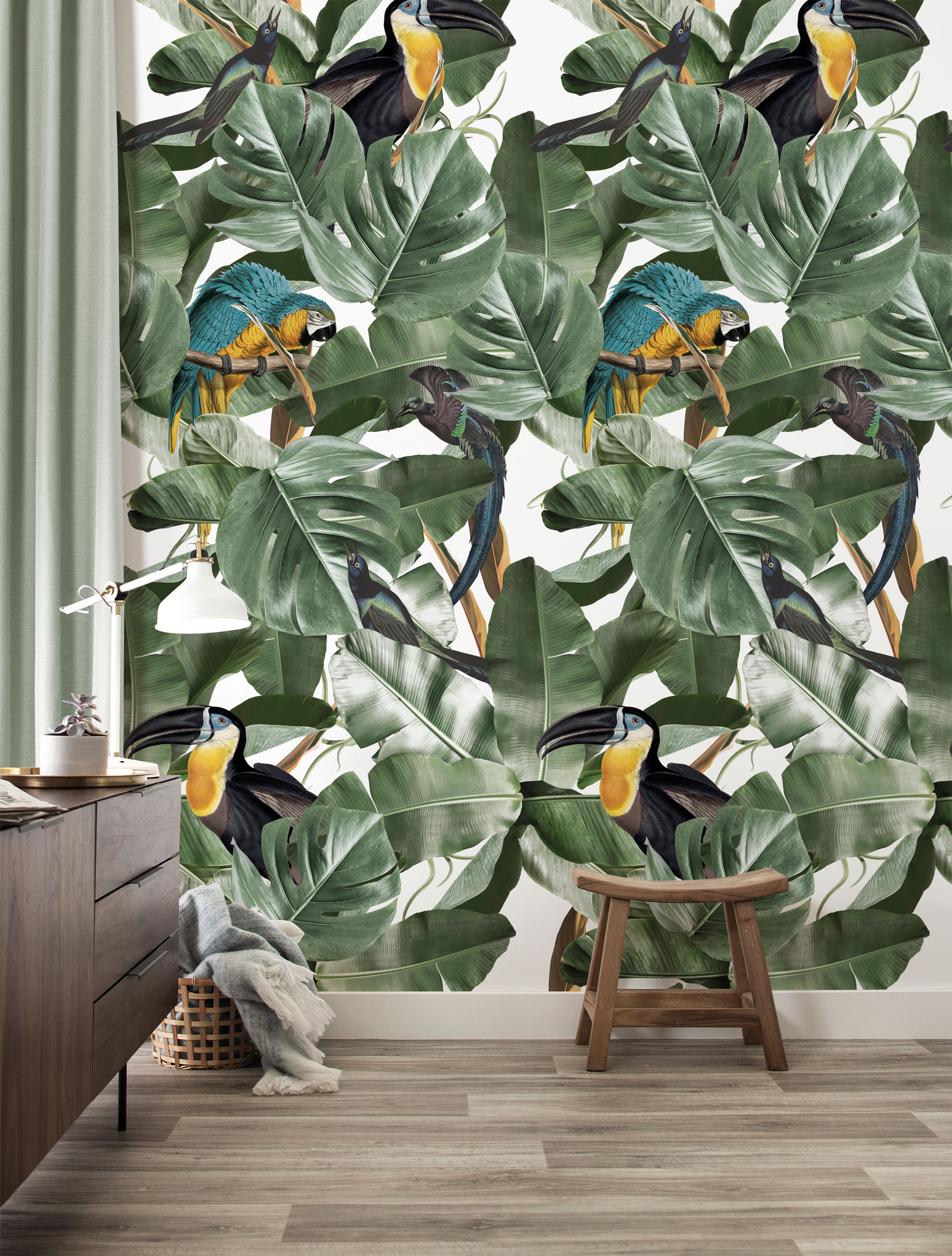 Behang Botanical Birds Wallpaper