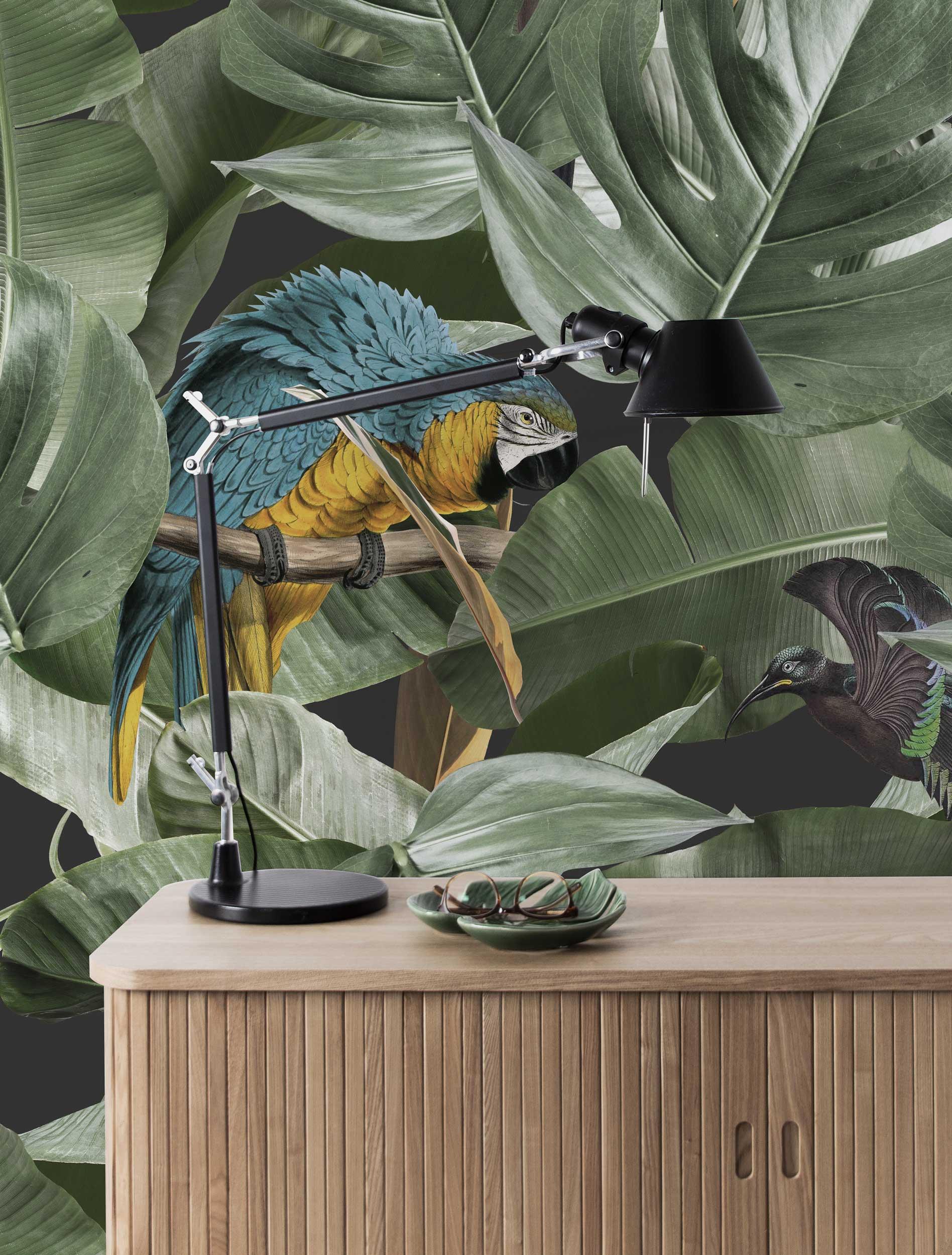 Behang Botanical Birds Wallpaper
